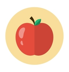 Apple icon flat vector