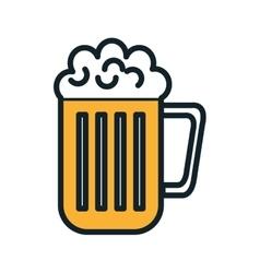 beer mug beverage vector image vector image