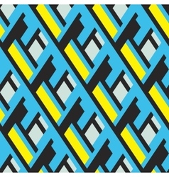 Bold pattern with architectural motifs vector image vector image