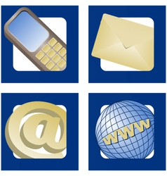 contact info icons vector image vector image