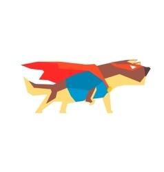 Dog super hero character vector
