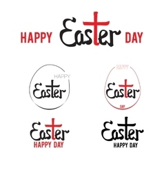 easter hand lettering 002 vector image vector image