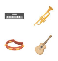 electro organ trumpet tambourine string guitar vector image vector image