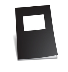 Empty brochure vector image