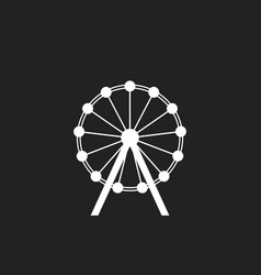 Ferris wheel icon carousel in park icon amusement vector