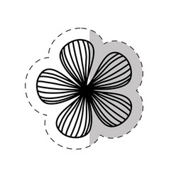 Flower natural plant cut line vector