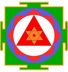 ganesha yantra vector image vector image