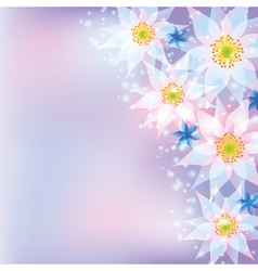 Greeting card abstract background with flowers vector image
