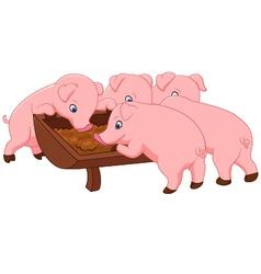 Happy farm pig vector