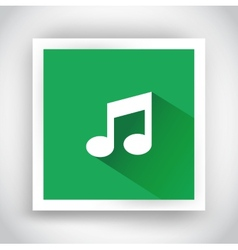 Icon of music for web and mobile applications vector