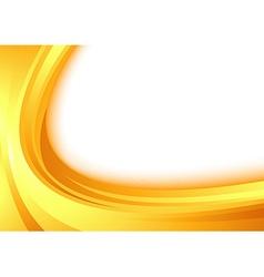 Modern orange border swoosh wave certificate vector image vector image