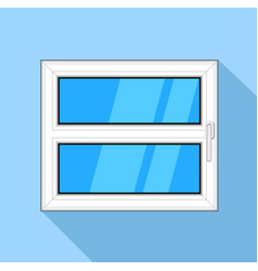 Plastic window with blue sky glass and handle icon vector