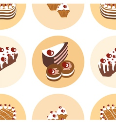 Seamless pattern with sweet vector image