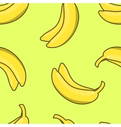 Yellow Banana seamless pattern vector image vector image