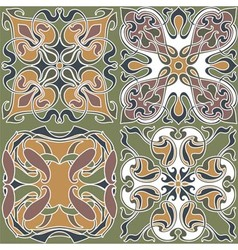 4 art nouveau wallpapers vector image