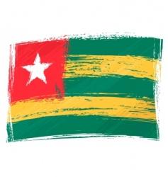 grunge Togo flag vector image