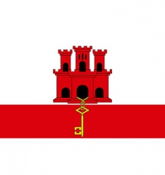 Gibraltar flag vector
