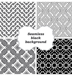 Mono line backgrounds with simple patterns vector