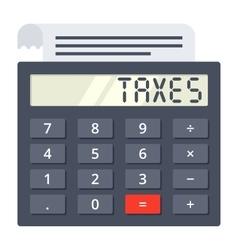 Tax calculator concept vector