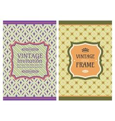 vintage retro cards vector image