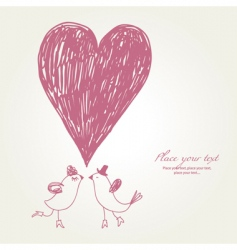 greeting card hand drawn vector image