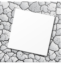 Ground cracks with paper vector