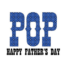 Blue bandana pop fathers day vector