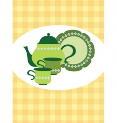 tea pot set vector image