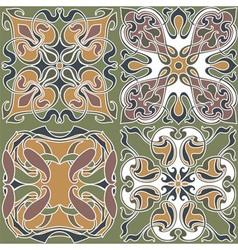 4 art nouveau wallpapers vector image vector image