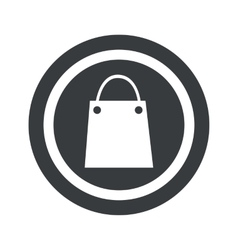 Round black shopping bag sign vector