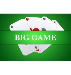Casino playing card background vector