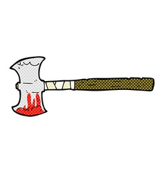 Comic cartoon double sided axe vector
