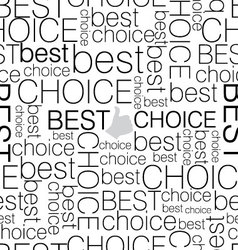 Seamless background best choice vector