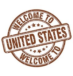 Welcome to united states vector