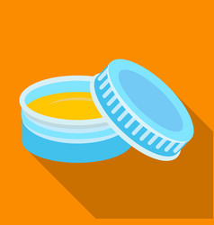 After shave creambarbershop single icon in flat vector