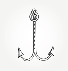 Anchor line icon symbol art variable line vector image vector image