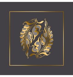 Art nouveau style element vector