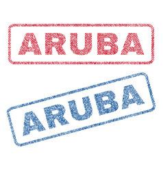 Aruba textile stamps vector