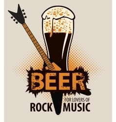 beer for lovers of rock music vector image vector image