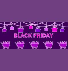 black friday hanging gift boxes celebratory vector image