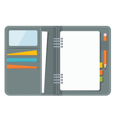 blank business organizer vector image