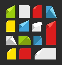 Collection of color blank paper sheets with vector image vector image
