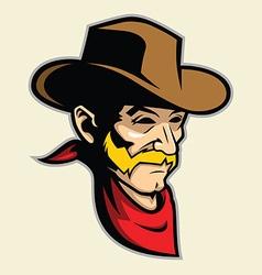 Cowboy head mascot vector image