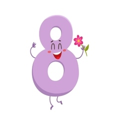 Cute and funny colorful 8 number characters vector