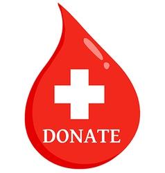 Donate blood logo vector image