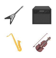 Electric guitar loudspeaker saxophone violin vector