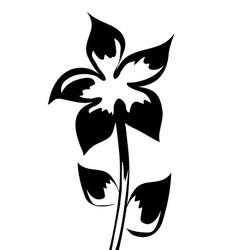 element for design silhouette flower vector image vector image