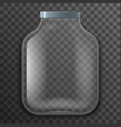 empty glass pot jar sign transparent background vector image vector image