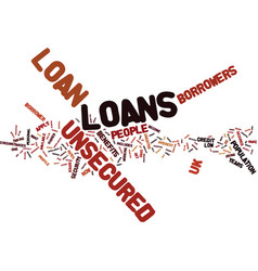 Every profile covered with unsecured loan uk text vector