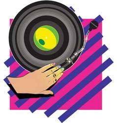 female hand Dj vector image